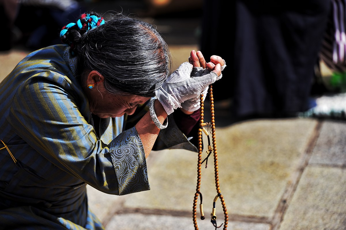 Believer at Jokhang Temple
