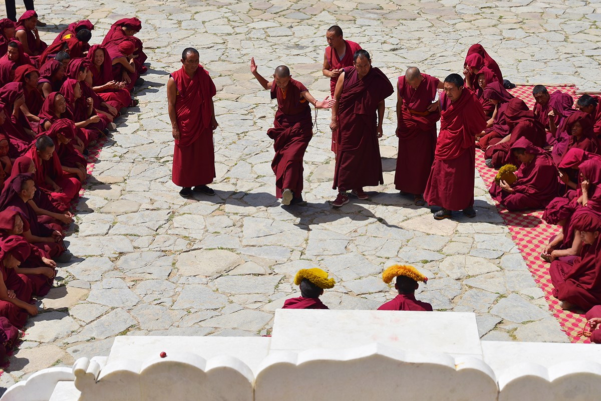 Debate in Drepung Monastery