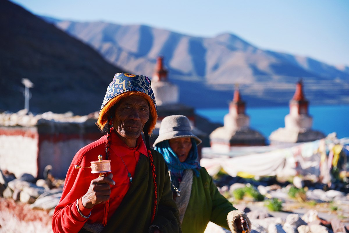 Local Tibetan and Dangra Tso