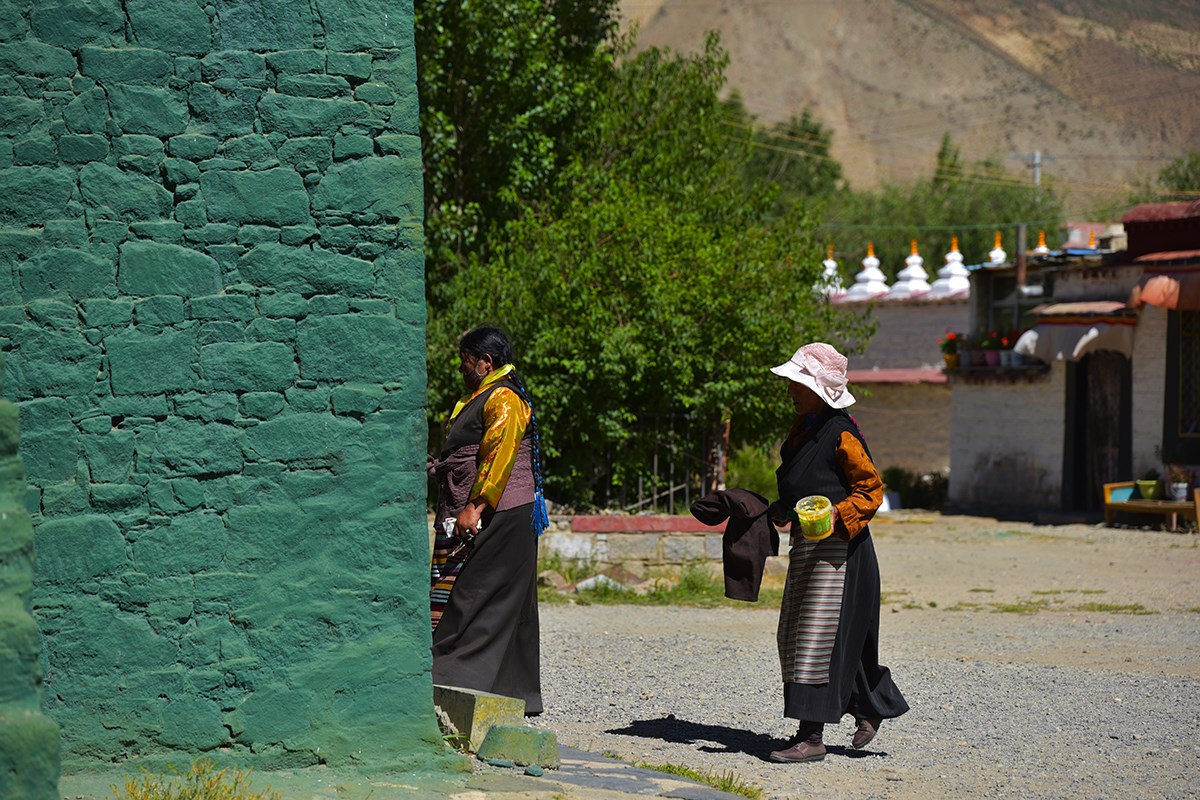 Believers at Samye Monastery
